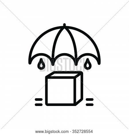 Black Line Icon For Keep Maintenance Upkeep Put Manage Safe Umbrella