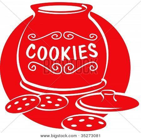 Cookies and Cookie Jar Clip Art