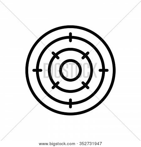 Black Line Icon For Objective Purpose Achievement Analysis  Bullseye Challenge Circle Competition