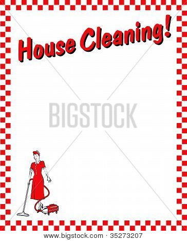 House Cleaning Border Background