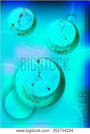 Magic Crystal Ball In Hand, Blue Light, Electric Discharges And Lightning, Mystical Illustration, El