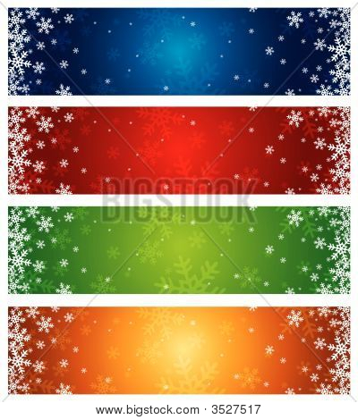 Farbe Weihnachten Banner