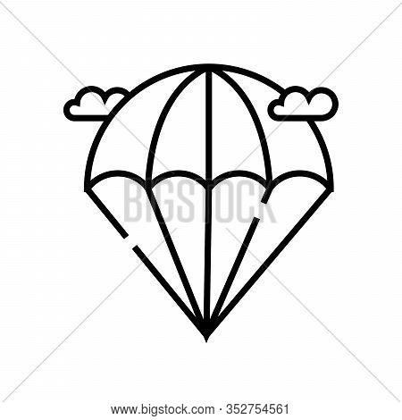 Aeronautics Line Icon, Concept Sign, Outline Vector Illustration, Linear Symbol.