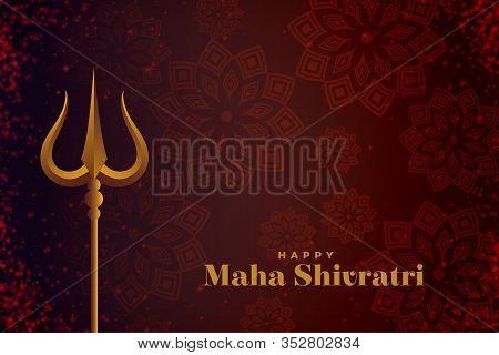 Shivratri Festival Card With Lord Shiva Trishul