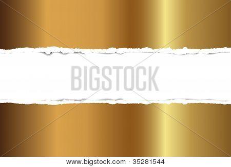 Gold torn paper,