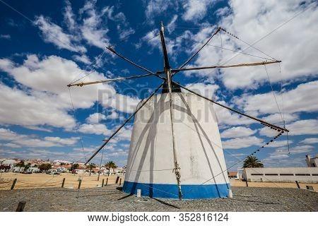 Traditional Windmill In Castro Verde, Alentejo, Portugal, Europe