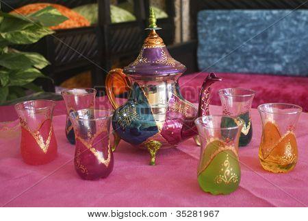 traditional morrocan tea-set