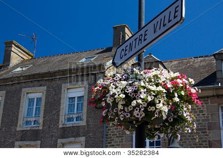 French Town Sign