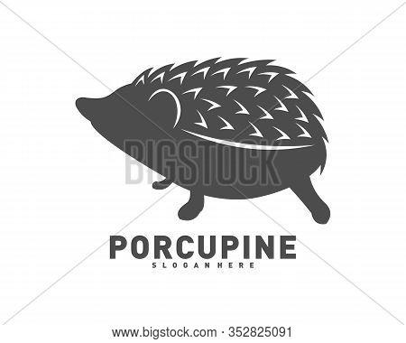 Porcupine Logo Icon Design Vector Illustration