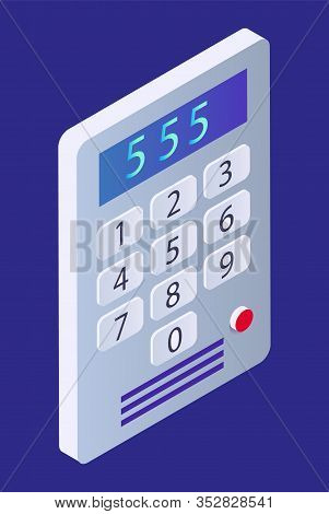 Intercom, Smart Home Device, On-door Communication Equipment In House, Isolated 3d Object Vector. En