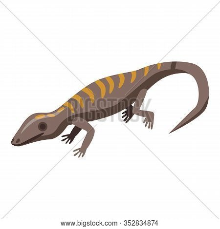 Gecko Lizard Icon. Isometric Of Gecko Lizard Vector Icon For Web Design Isolated On White Background