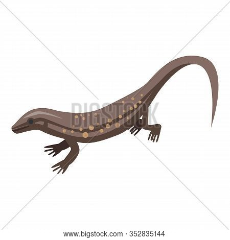 Ground Lizard Icon. Isometric Of Ground Lizard Vector Icon For Web Design Isolated On White Backgrou