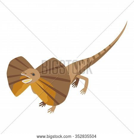 Butterfly Lizard Icon. Isometric Of Butterfly Lizard Vector Icon For Web Design Isolated On White Ba