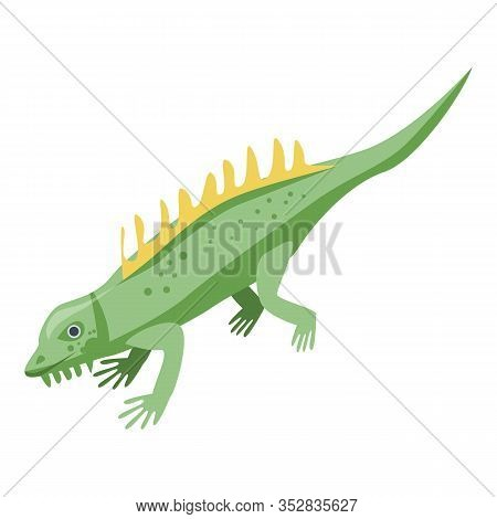 Dino Lizard Icon. Isometric Of Dino Lizard Vector Icon For Web Design Isolated On White Background
