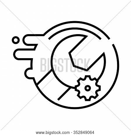 Customization Line Icon, Concept Sign, Outline Vector Illustration, Linear Symbol.