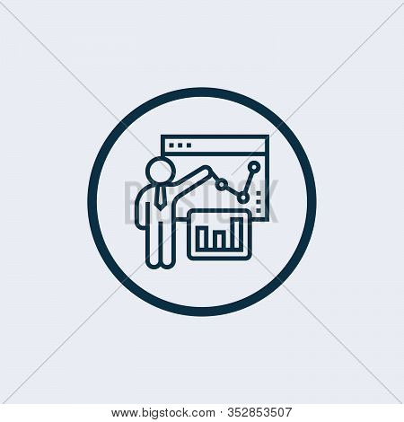 Business Plan Icon Isolated On White Background From Business Strategy Collection. Business Plan Ico