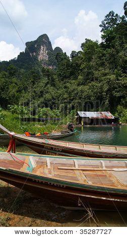 Chiao Lan Lake in Khao Sok National Park, Thailand