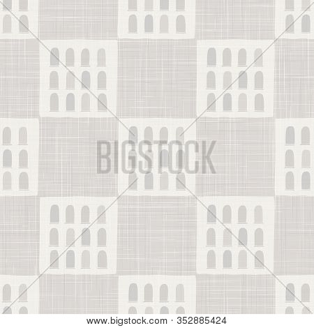Architectural Vector Seamless Pattern. Paper Cut Style Collage Background