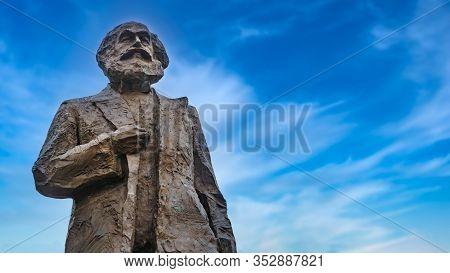 Trier, Germany - September 13, 2019: Statue Of Famous Communist Karl Marx In Trier, Germany
