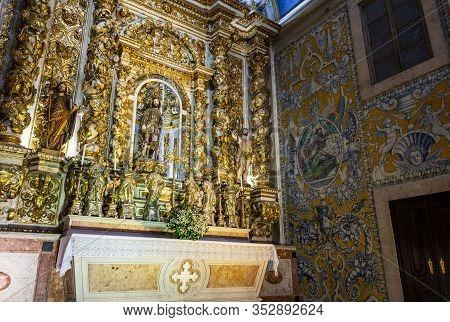 Lisbon - August 30, 2019: View Of The Chapel Of Saint Roch Inside The Jesuit Church Of Saint Roch, I