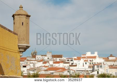 Tower Of Ancient Castle In Elvas, Portugal
