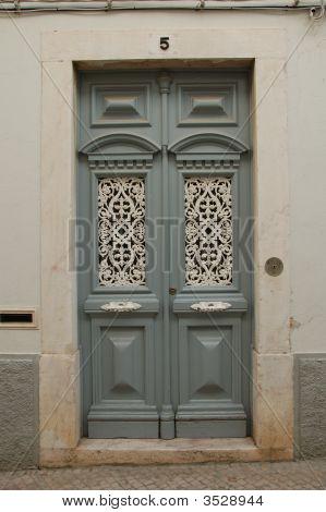 Vintage Door In ÉVora Portugal