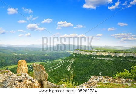 Valley In High Mountain.