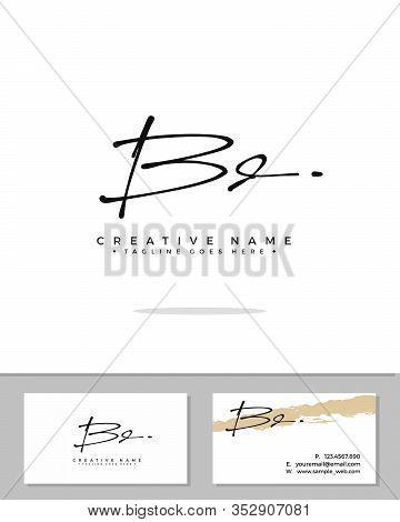 B D Bd Initial Logo Signature Vector. Handwriting Concept Logo.