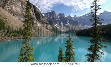 Afternoon View Of Moraine Lake In Canada