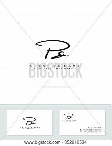 P D Pd Initial Logo Signature Vector. Handwriting Concept Logo.
