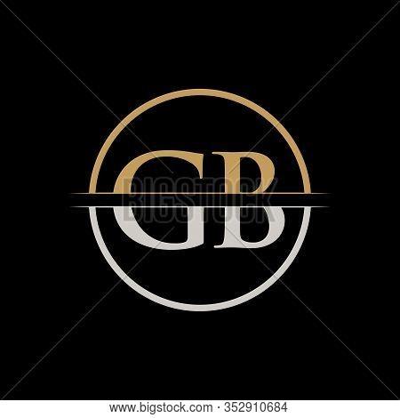 Gb Letter Type Logo Design Vector Template. Initial Letter Gb Logo Design