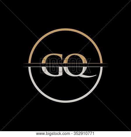 Gq Letter Type Logo Design Vector Template. Initial Letter Gq Logo Design