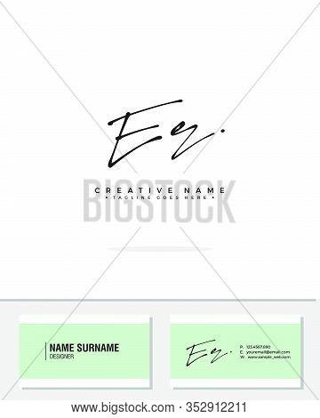 E R Er Initial Logo Signature Vector. Handwriting Concept Logo.