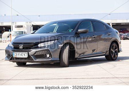 Varna, Bulgaria - October 31, 2018: New Honda Civic. Honda Is A Japanese Public Multinational Compan