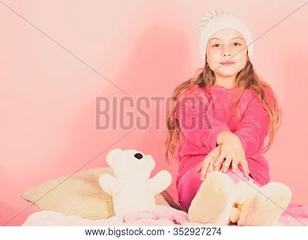 Unique Attachments To Stuffed Animals. Teddy Bears Improve Psychological Wellbeing. Kid Cute Girl Pl