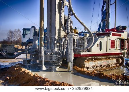 Drilling Rig. Drilling Deep Wells. Coring. Industry. Mineral Exploration.