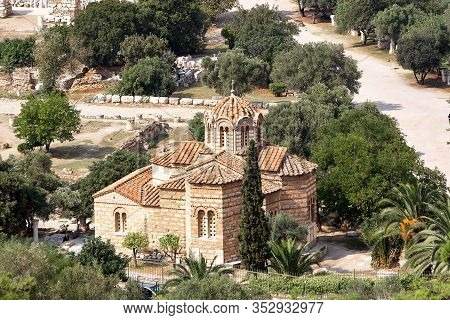 Church Of The Holy Apostles In Athens. Greece