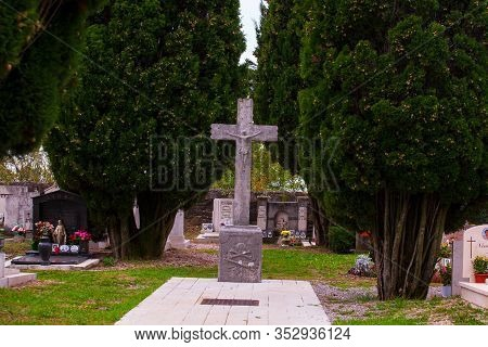 Contovello, Italy - October, 19: View Of The Cemetary On October 19, 2019