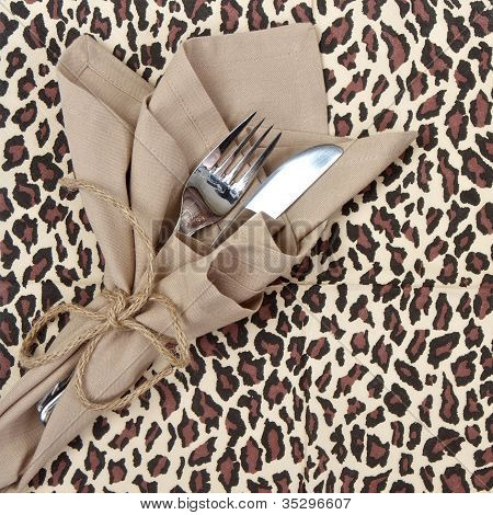 Knife And Fork For A Safari Theme