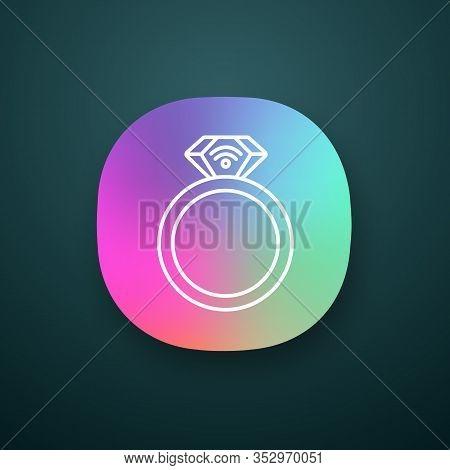 Nfc Ring App Icon. Near Field Communication. Rfid Transponder. Ui Ux User Interface. Smart Ring. Con