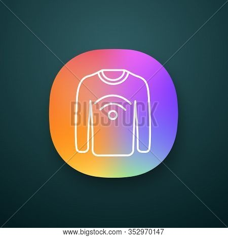 Nfc Clothes App Icon. Near Field Communication Sweater. Ui Ux User Interface. Web Or Mobile Applicat