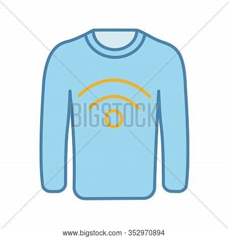 Nfc Clothes Color Icon. Near Field Communication Sweater. Rfid Tag. Contactless Technology. Nfc Jump