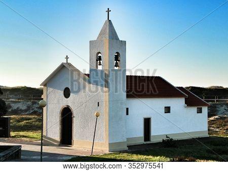 Beautiful And Old Nossa Senhora Da Saude Church In Aveiro, Porto, Portugal