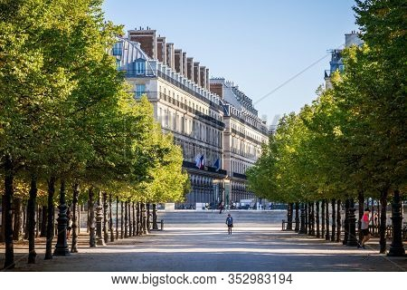 Paris/france - September 10, 2019 : Aisles Of The Tuileries Garden In Summer