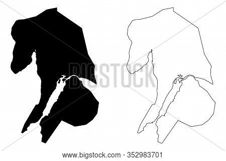 Port Vila City (republic Of Vanuatu) Map Vector Illustration, Scribble Sketch City Of Port Vila Map
