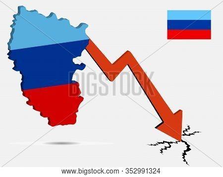 Luhansk Peoples Republic Economic Crisis Vector Illustration Eps 10.