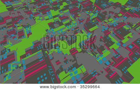 Vector Abstract Concept Eco City Architecture
