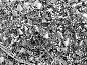 Metal chip / shavings (for background and surface) poster