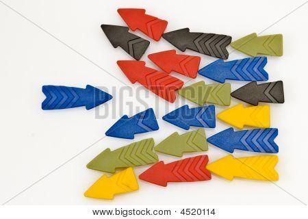 Colorful Arrows Against A Blue 2.
