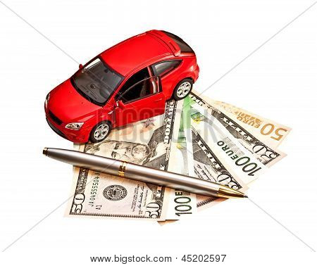 Car, Pen And Money